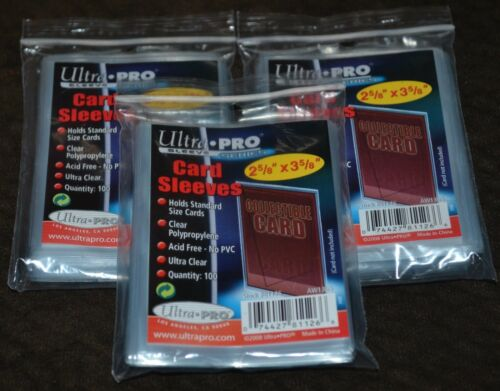 300 Ultra Pro Series Card Sleeves 3 Packages of Protectors Cases Protective NEW