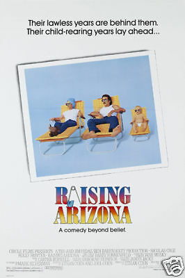 Raising Arizona cult movie poster print