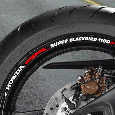 8 x CBR Blackbird 1100 xx Wheel Rim Stickers Decals 1100xx B