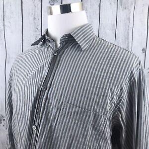 Ermenegildo-Zegna-Sport-Mens-Long-Sleeve-Striped-Button-Down-Shirt-Size-XL
