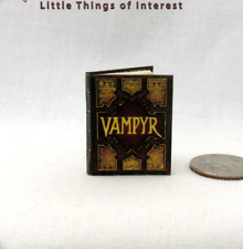 Artisan Halloween Magic Book Eighteenth Century Charms Dollhouse Miniatures