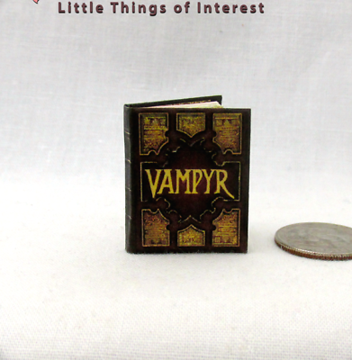 Puntuale Book Of Shadows Magiche Spell Libro Miniatura Casa Delle Bambole 1:12 Scala Colore Veloce