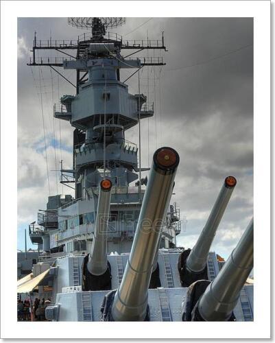I Battleship Missouri Art Print Home Decor Wall Art Poster