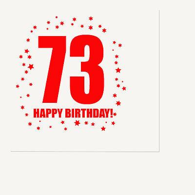 65th BIRTHDAY LUNCHEON NAPKIN 16//pkg Large Napkin Birthday Party Supplies T313