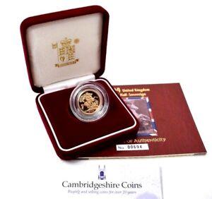 2004-Gold-Proof-Half-Sovereign-Coin-Box-COA-Bullion-Gift-Royal-Mint