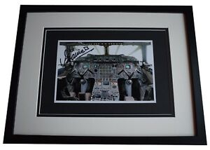 Mike-Bannister-Signed-Framed-Autograph-16x12-photo-display-Chief-Concorde-Pilot