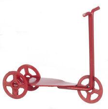 Red METAL Scooter, doll House Miniatura, Nursery e Giocattoli, Scala 1.12