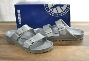 Birkenstock-Arizona-EVA-Sandals-Women-039-s-8-Narrow-Shoes-Lightweight-Silver-39-NEW