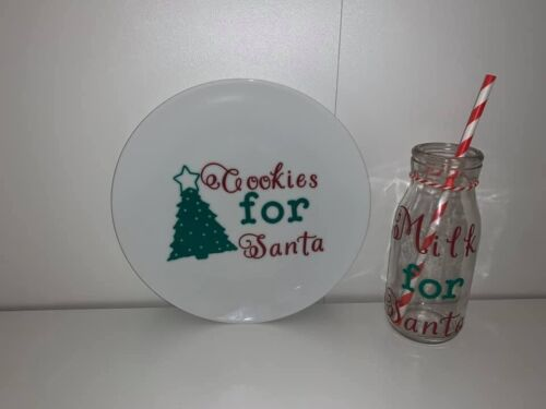 Milk and Cookies For Santa Plate and Cup Set