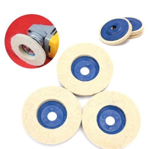 100mm wool polishing wheel buffing pads angle grinder wheel felt polishing disc#