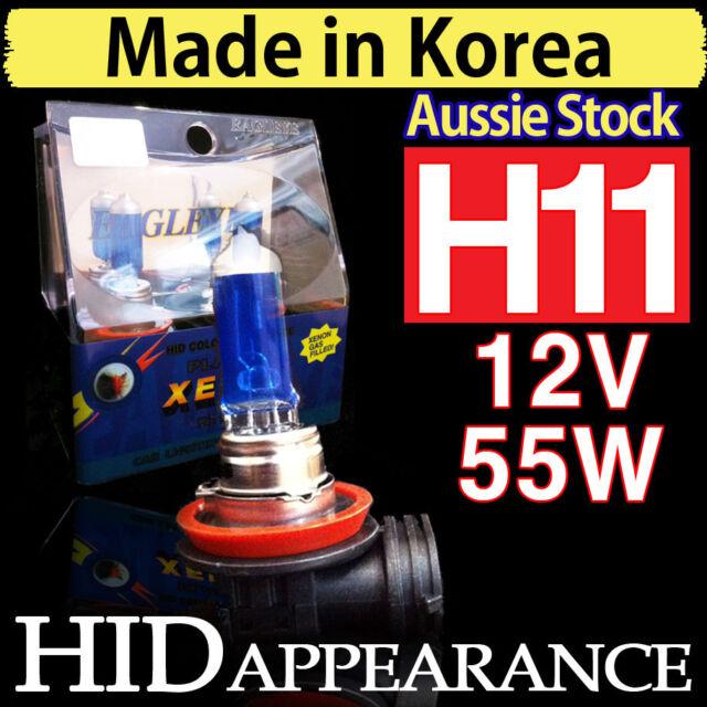 H11 Bulb Globes HID Globe Bulbs Xenon Healight Plasma 12V 55W Crystal White FOG
