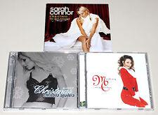 3 CD SAMMLUNG SARAH CONNOR CHRISTMAS IN MY HEART CHRISTINA AGUILERA MARIAH CAREY