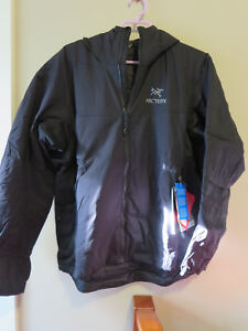 Mens-New-Arcteryx-Atom-LT-Hoody-Jacket-Size-Large-Color-Black