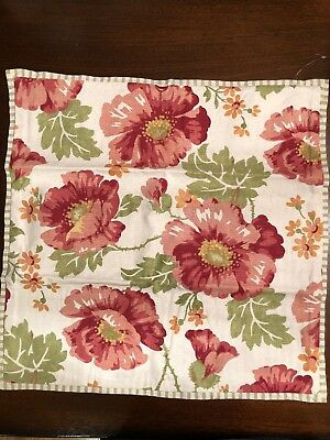 Pottery Barn Pillow Covers Poppy Floral Cottage 20x20 Ebay