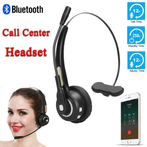 Microphone Wireless Bluetooth Call Center Telephone Headset Noise Cancelling