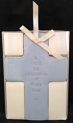 Blue Cross A Child Is A Celebration Of God's Love Baby Boy's Room Nursery Decor