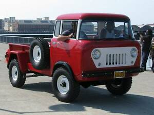 Old Photo Red 1960 Willys Jeep Fc 170 C O E Truck Ebay