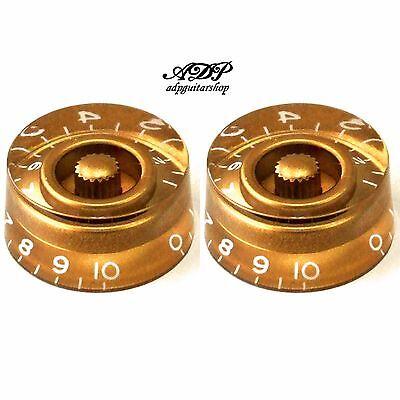 4 Knöpfe Plexi Zoll Größe Hütte-form Glocke Tophat Vintage Gold LP der Paul SG