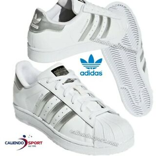 adidas superstars argento bianco