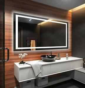 Details zu Lichtspiegel LED Badspiegel Beleuchtung Batterien Versorgt