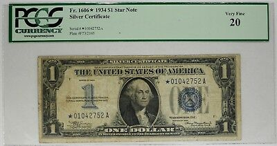 """1934 $1 Blue /""""FUNNY BACK/"""" SILVER Certificate VG! Old US Currency!"""