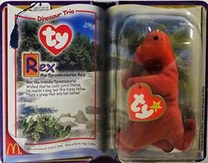 - In Packages 2000 TY McDonald/'s Teenie Beanies DINOSAUR TRIO Set of 3