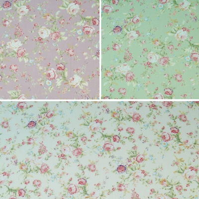 Venta 100/% Algodón Popelín Tela Rose /& Hubble Perfecto Paisley Floral Flores