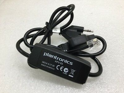 Plantronics EHS APV-62 38734-01 Electronic Hook Switch Cable for Avaya Phone