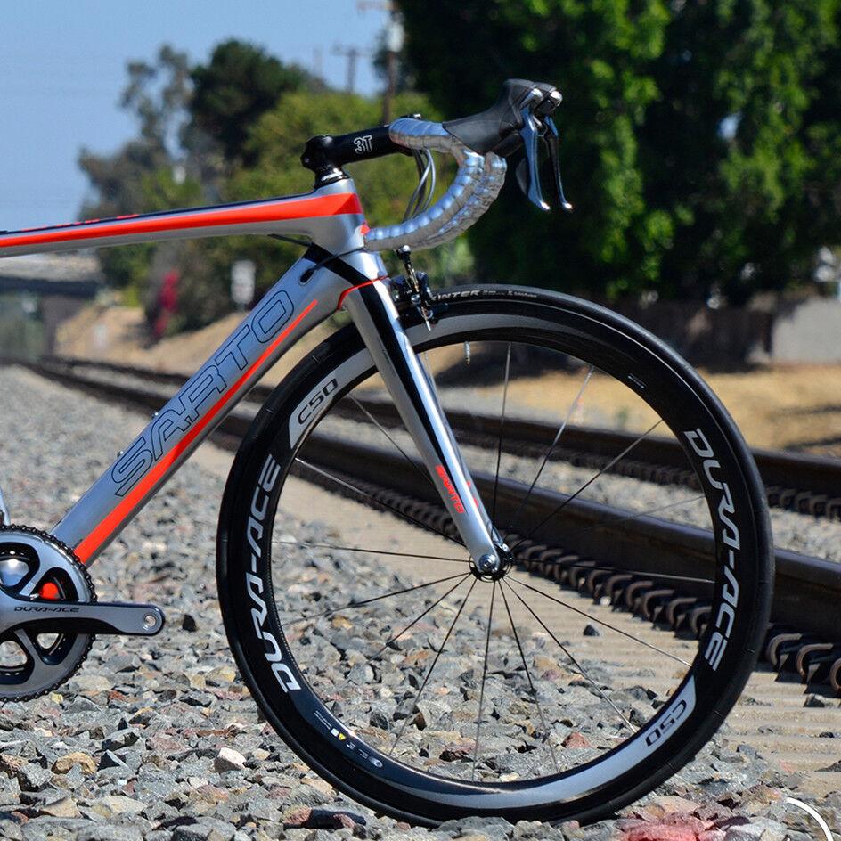 NEW WHITE 700c bike wheel V 60mm Alloy Wheel Set fixed gear bike city 296950