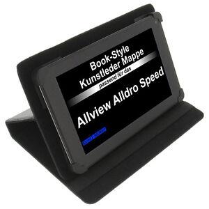 Funda-para-Allview-Alldro-SPEED-LIBRO-Estilo-Tableta-PROTECTORA-Stand-Negro