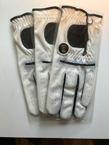 Mens-Cabretta-Leather-Golf-Gloves-XL-3-Pack-of-Gloves-Right-handed-Golfers