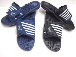 a43af858a032 Image is loading Mens-Sport-Slides-Slippers-Flip-flops-Massage-Sandals-