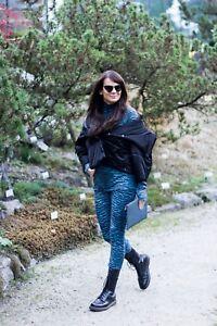 5af866620e653 KENZO x H&M Tiger Print Patterned Wool Fit Pants Leggings S M L Red ...