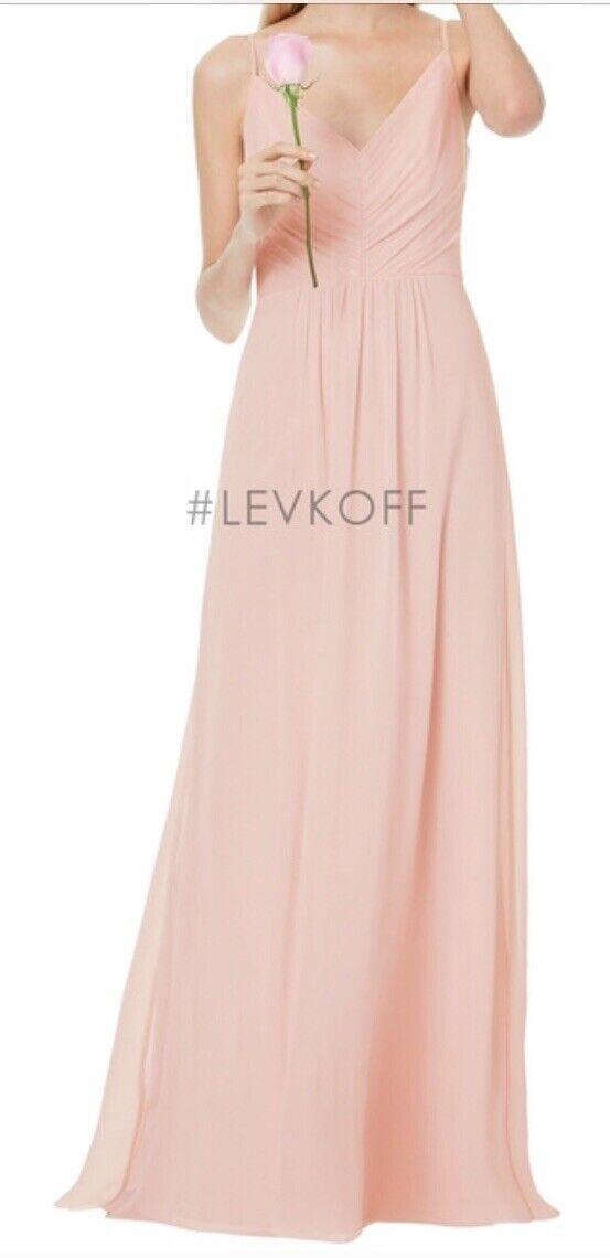 Bill Levkoff Bridesmaid Dress #7034 Size 12 NWT Color: Petal Pink