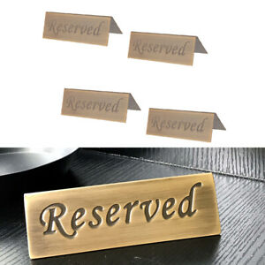 Wood Table Reserved Sign - Slide in Printed Paper with ...  |Reserved Table Sign Holder