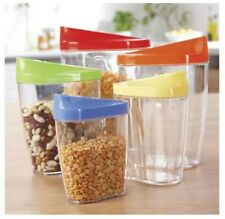 5 Piece Cereals Oats Flour Dry Goods Storage Tupperware Containers Brand New
