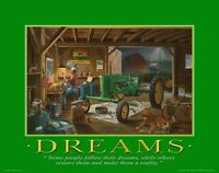 John Deere Tractor Motivational Poster Art Pedal Toys Advertising Signs Mvp90