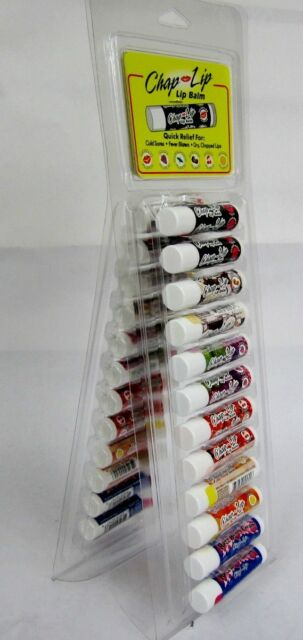 "WHOLESALE LOT OF 24, 48 COUNT--""CHAP LIP"" LIP BALM .15 OZ (4.2G) 6 FLAVOR"
