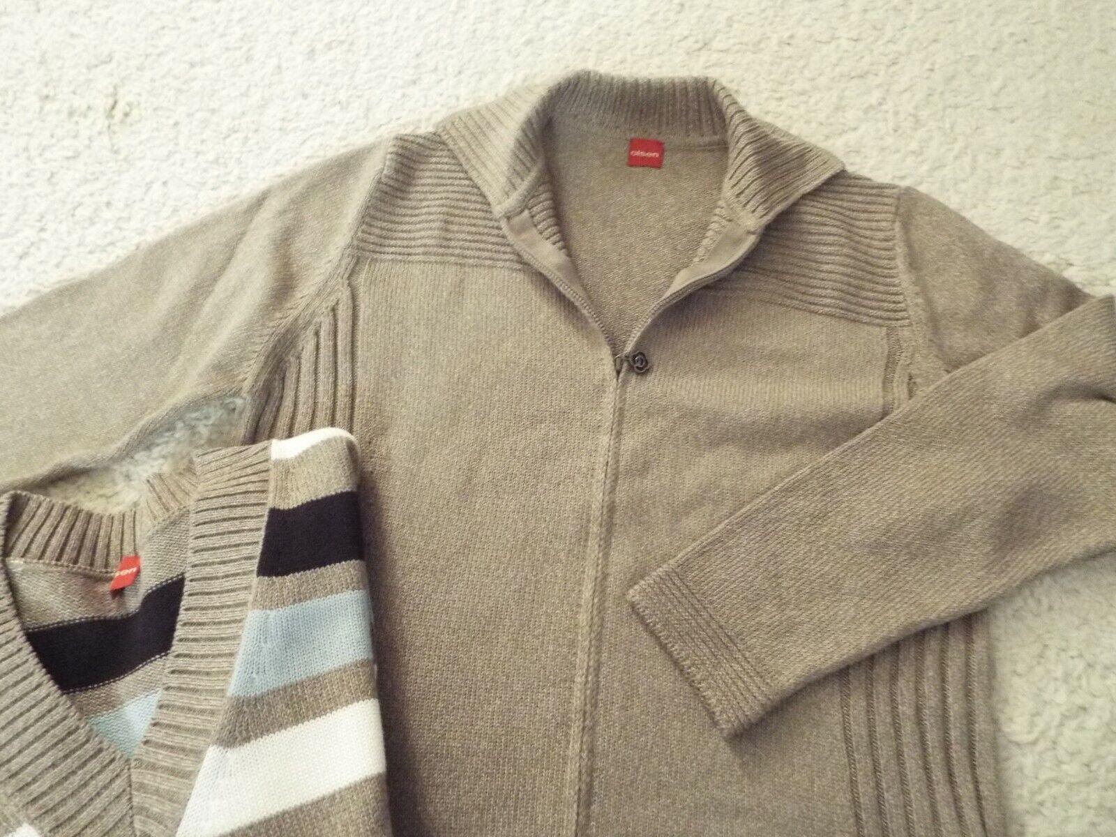 Pulli Pullover & Strickjacke von Olsen Neu 44 Baumwolle/Polyacryl Beige 2 Teile