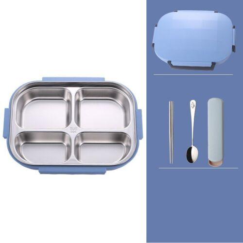 Caja de Almuerzo Térmica Termo de acero inoxidable con bolsa Set Niño Adulto Contenedor De Alimentos