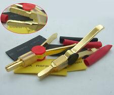 2PCS Gold Copper Northbridge LCR Test Clips 10A Kelvin Clip 20cm Shrinkable Tube