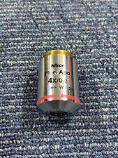 Nikon Plan Apo 4x02 Wd 20 Microscope Objective