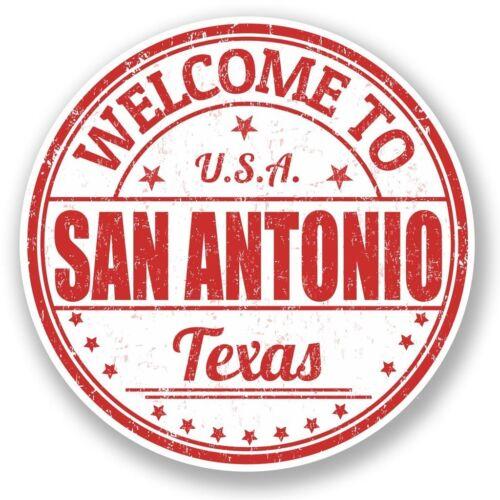2 X San Antonio Texas USA Pegatina de vinilo Laptop Viaje Equipaje Coche #5886