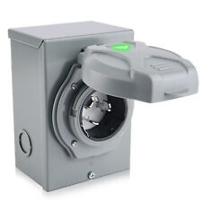 50 Amp 3 Prong Generator Cord Generator Power Inlet Box Weatherproof125250v