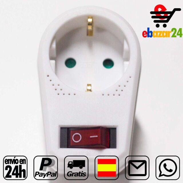 Enchufe adaptador de pared, interruptor On/Of *Envío GRATIS desde España*