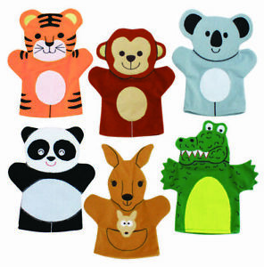 6 Wild Animal Hand Puppets - Childrens School Story Telling Puppets Toys | eBay
