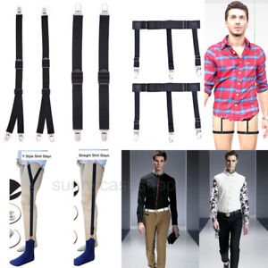 2PCS-Luxury-Military-Y-Style-Men-Shirt-Stays-Belt-Holder-Suit-Sock-Garter
