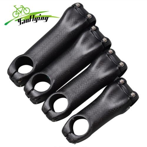 """31.8 Carbon Handlebar Bar Stem 1-1//8/"""" 3K Matte for Road MTB Bike Bicycle 90mm"""
