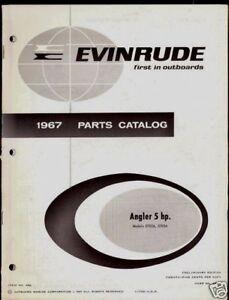 1967 evinrude 5hp outboard motor parts manual ebay rh ebay com Evinrude Fisherman 6 HP Outboard 1967 Johnson 33 HP