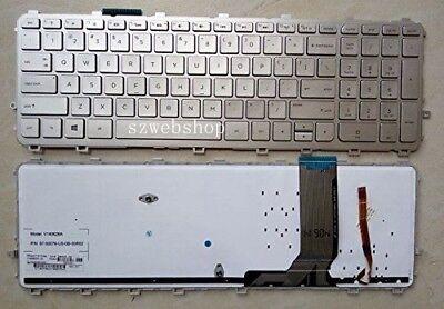 New for HP 15-j131es 15-j171ns 17-j020ss 15-j101ss US backlit keyboard silver